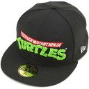NEW ERA new era Cap men women 59FIFTY NINJA TURTLES mutant turtles BLK/WHT (11134242 SS15)