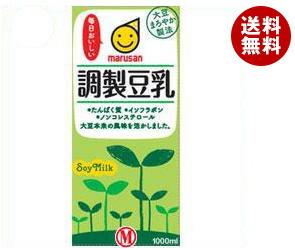 【送料無料】 マルサンアイ 調製豆乳 1000ml紙パック×12(6×2)本入 ※北海道・沖縄・離島は別途送料が必要。