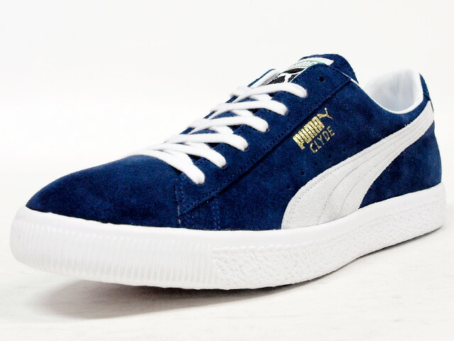 """Puma  JAPAN CLYDE """"made in JAPAN"""" """"LIMITED EDITION for 匠 COLLECTION"""" NVY/WHT (357321-02)"""