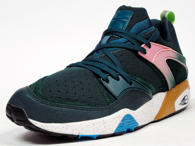 """Puma  BLAZE OF GLORY WILDERNESS PINE FOREST """"SIZE?"""" """"LIMITED EDITION for The LIST"""" GRN/PINK/BGE/BLU (357476-01)"""
