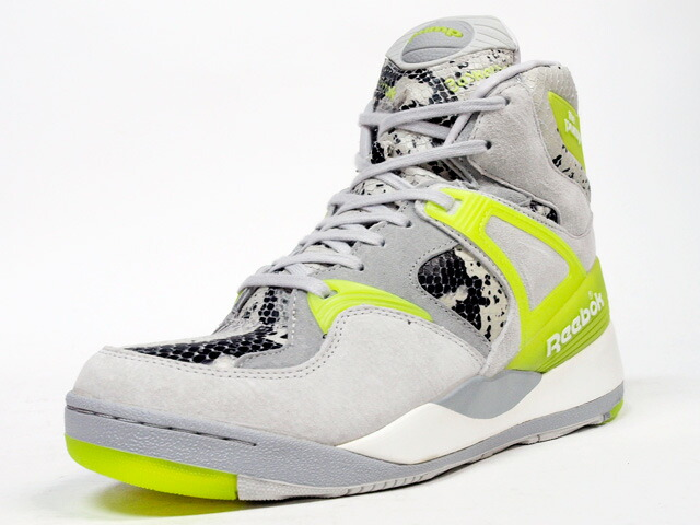 "Reebok  THE PUMP ""KASINA"" ""THE PUMP 25th ANNIVERSARY"" ""LIMITED EDITION for CERTIFIED NETWORK"" GRY/L.GRN (M48371)"