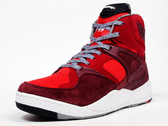 "Reebok  THE PUMP ""HANON"" ""THE PUMP 25th ANNIVERSARY"" ""LIMITED EDITION for CERTIFIED NETWORK"" RED/BGD/GRY/WHT (M44330)"