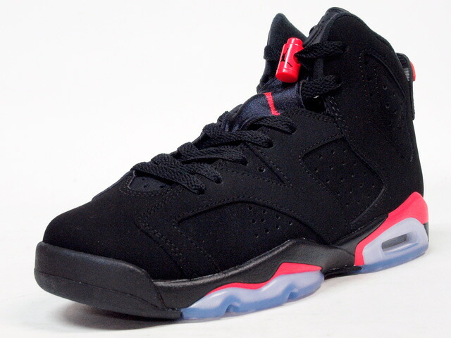 "NIKE  AIR JORDAN VI RETRO BG ""BLACK INFRARED"" ""MICHAEL JORDAN"" ""LIMITED EDITION for JORDAN BRAND"" BLK/RED (384665-023)"