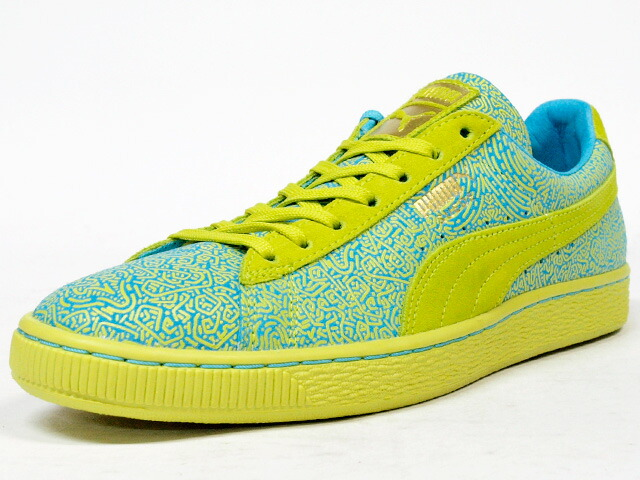 "Puma  SUEDE CLASSIC WMNS LINES ""SWIRLS & TRIANGLE PACK"" ""LIMITED EDITION for CREAM"" YEL/BLU (358017-02)"