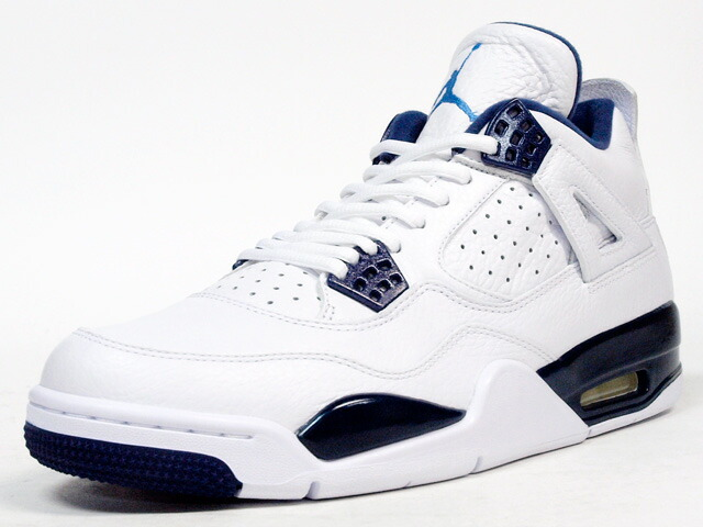 "NIKE  AIR JORDAN IV RETRO LS ""LEGEND BLUE"" ""MICHAEL JORDAN"" ""LIMITED EDITION for JORDAN BRAND"" WHT/NVY (314254-107)"