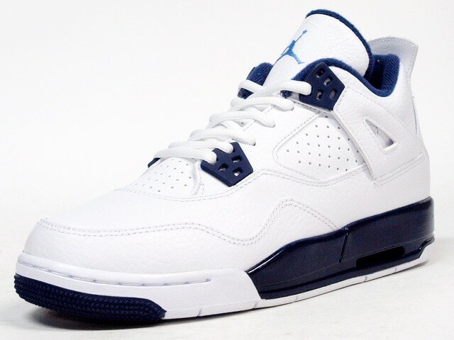 "NIKE  AIR JORDAN IV RETRO (GS) ""LEGEND BLUE"" ""MICHAEL JORDAN"" ""LIMITED EDITION for JORDAN BRAND"" WHT/NVY (408452-107)"