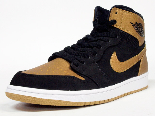 "NIKE  AIR JORDAN I RETRO HIGH ""PLAYERS EDITION / CARMELO ANTHONY"" ""LIMITED EDITION for NONFUTURE"" BLK/GLD/WHT (332550-026)"