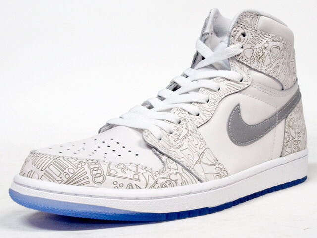 "NIKE  AIR JORDAN I RETRO HIGH OG LASER ""MICHAEL JORDAN"" ""LIMITED EDITION for NONFUTURE"" O.WHT/SLV/WHT (705289-100)"