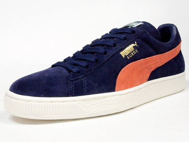 Puma  SUEDE CLASSIC + NVY/ORG/WHT (356568-42)