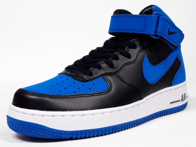 """NIKE  AIR FORCE I MID 07 """"LIMITED EDITION for ICON"""" BLK/BLU (315123-027)"""