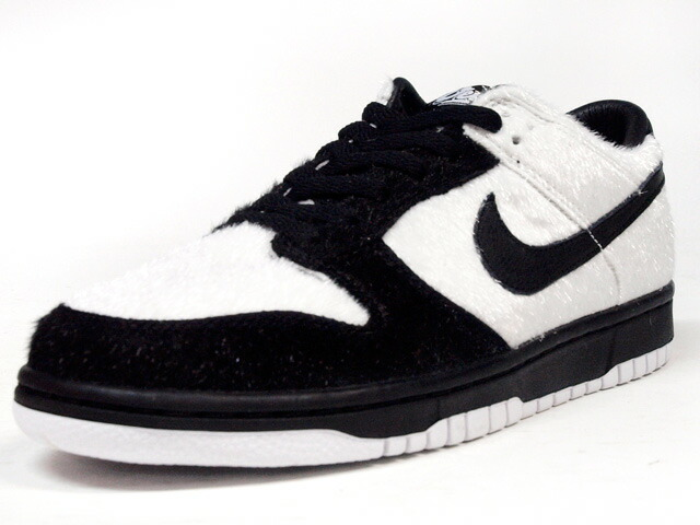 """NIKE  DUNK LOW PREMIUM QS BG """"熊猫"""" """"CITY ATTACK/UENO"""" """"LIMITED EDITION for NONFUTURE"""" WHT/BLK (747072-101)"""