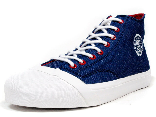 "LOSERS  SCHOOLER CLASSIC HI ""OKAYAMA DENIM"" ""CUSTOM MADE"" BLU/WHT/RED (SCH01)"
