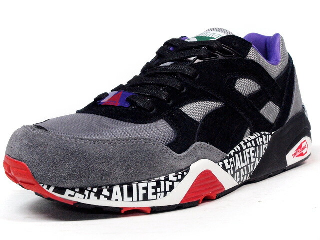 "Puma  R698 x STUCK UP ""ALIFE"" ""LIMITED EDITION"" GRY/BLK/PPL/WHT/RED (358867-01)"