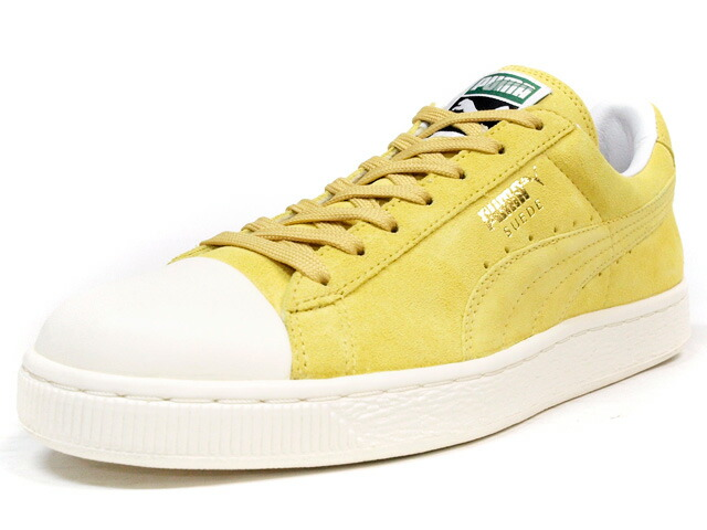 """Puma  SUEDE CLASSIC RUBBER TOE """"LIMITED EDITION"""" YEL/WHT (357719-09)"""