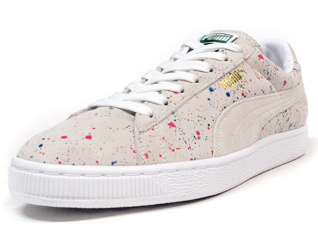 "Puma  SUEDE CLASSIC ALLOVER SPLATTER ""LIMITED EDITION"" O.WHT/MULTI (358287-01)"