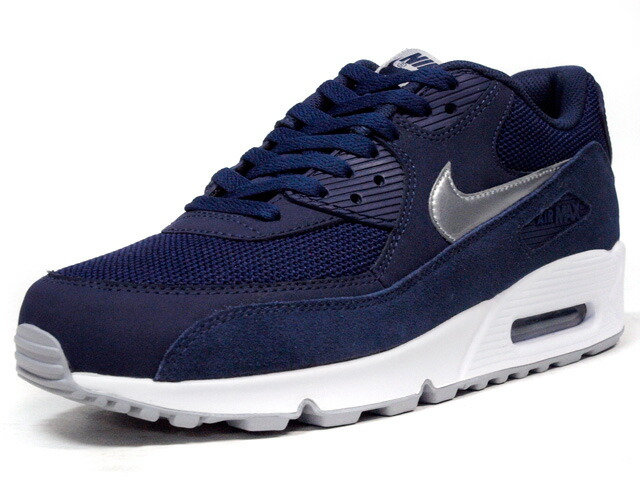 """NIKE  AIR MAX 90 ESSENTIAL """"LIMITED EDITION for ICONS"""" NVY/SLV/WHT (537384-411)"""
