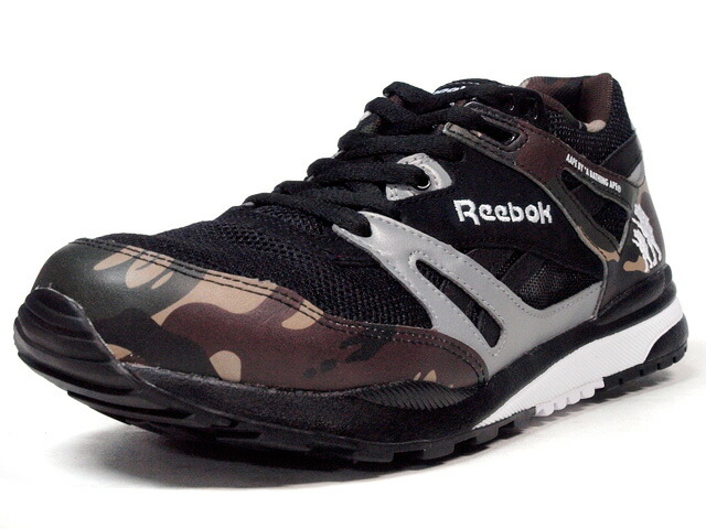 "Reebok  VENTILATOR AFFILIATES ""Aape by A BATHING APE?"" ""VENTILATOR 25th ANNIVERSARY"" ""LIMITED EDITION"" BLK/BAPE? CAMO/SLV/WHT (V63541)"