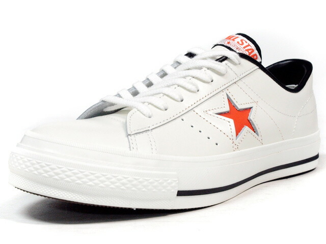 """CONVERSE  ONE STAR J """"made in JAPAN"""" """"LIMITED EDITION for STAR SHOP"""" WHT/ORG (32346753)"""
