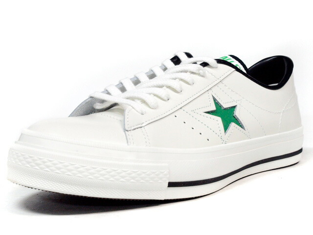 """CONVERSE  ONE STAR J """"made in JAPAN"""" """"LIMITED EDITION for STAR SHOP"""" WHT/L.GRN (32346754)"""