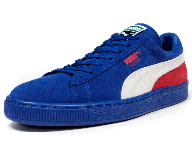 "Puma  SUEDE CLASSIC + BLOCKED ""LIMITED EDITION"" BLU/WHT/RED (359097-02)"