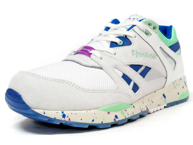 "Reebok  VENTILATOR CN ""FOTT"" ""VENTILATOR 25th ANNIVERSARY"" ""LIMITED EDITION for CERTIFIED NETWORK"" WHT/BLU/E.GRN/PPL (V63459)"