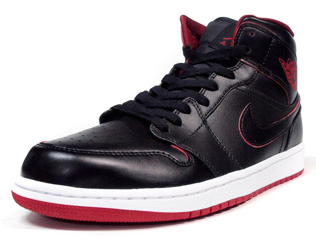 "NIKE  AIR JORDAN I MID ""LIMITED EDITION for JORDAN BRAND"" BLK/RED/WHT (554724-028)"