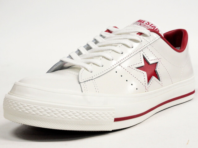 "CONVERSE  ONE STAR J ""made in JAPAN"" ""LIMITED EDITION for STAR SHOP"" WHT/RED (32346512)"