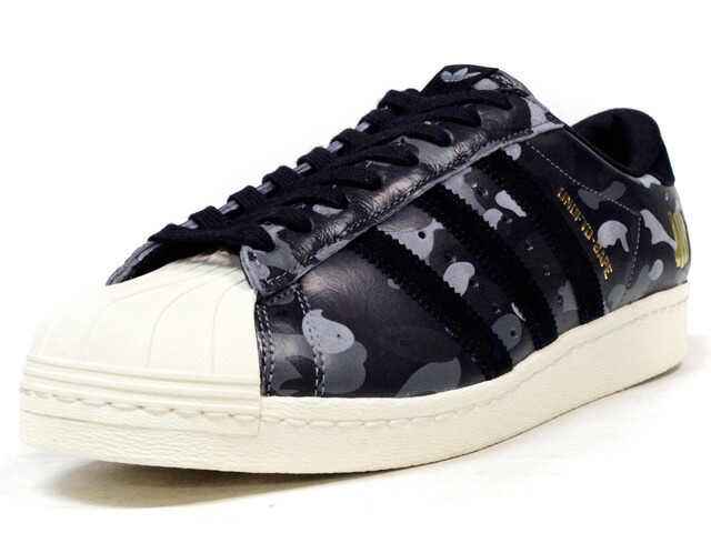 """adidas  SUPERSTAR 80V """"UNDEFEATED x A BATHING APE?"""" """"LIMITED EDITION for CONSORTIUM"""" BLK/GRY/NAT/CAMO (S74774)"""