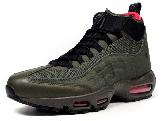 "NIKE  AIR MAX 95 SNEAKERBOOT ""LIMITED EDITION for ICONS"" OLV/BLK/ORG (806809-300)"