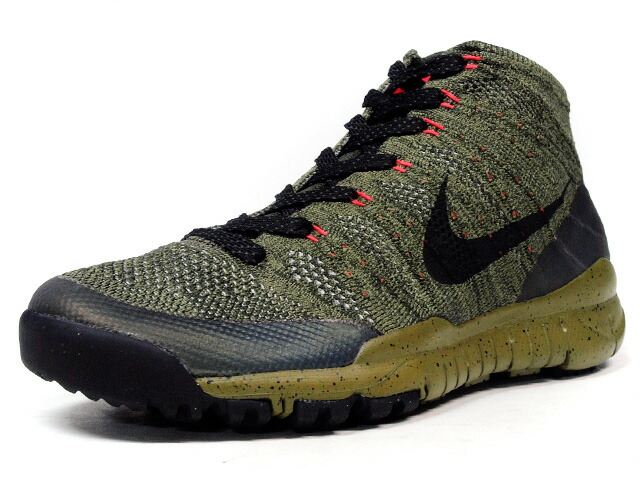 "NIKE  FLYKNIT TRAINER CHUKKA SNEAKERBOOT ""LIMITED EDITION for NSW FLYKNIT"" OLV/BLK/ORG (805092-300)"