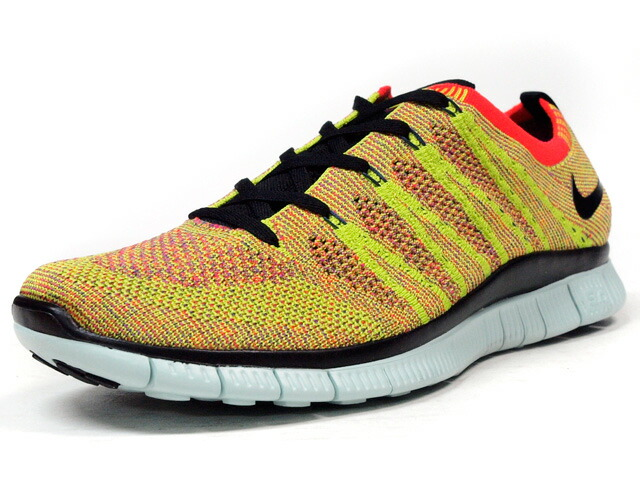 "NIKE  FREE FLYKNIT NSW ""LIMITED EDITION for RUNNING FLYKNIT"" YEL/ORG/BLK/WHT (599459-604)"