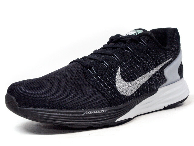 "NIKE  LUNAR GLIDE VII FLASH ""LIMITED EDITION for RUNNING FLYKNIT"" BLK/SLV/WHT (803566-001)"