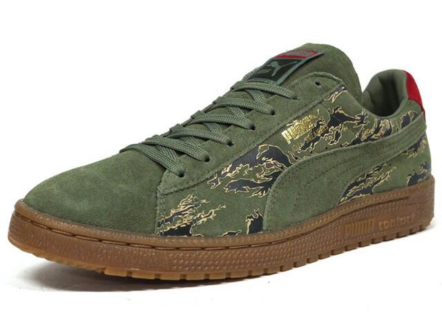 "Puma  CLYDE CONTACT ""First Contact"" ""SBTG x mita sneakers"" OLV/CAMO (360991-01)"