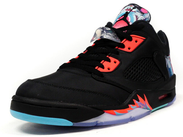 "NIKE  AIR JORDAN V RETRO LOW CNY ""CHINESE NEW YEAR"" ""MICHAEL JORDAN"" ""LIMITED EDITION for NONFUTURE"" BLK/RED/MULTI (840475-060)"