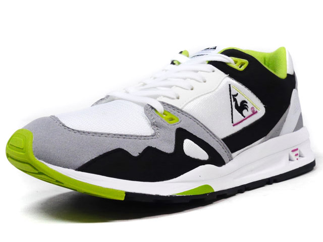 "le coq sportif  LCS-R1000 OG ""DYNACTIF SYSTEM 25th ANNIVERSARY"" ""LIMITED EDITION"" WHT/GRY/BLK/GRN (1610691)"