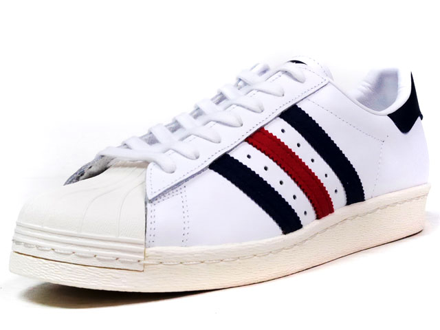 adidas  SUPERSTAR 80S WHT/NVY/RED (AQ4654)