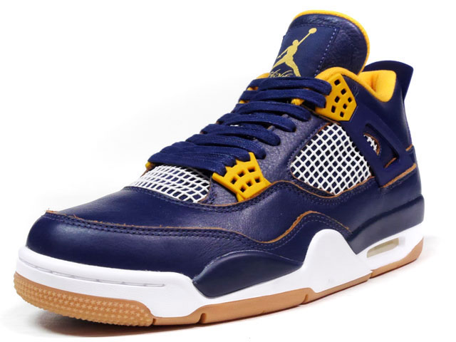 "NIKE  AIR JORDAN IV RETRO ""DUNK FROM ABOVE"" ""LIMITED EDITION for JORDAN BRAND"" NVY/YEL/WHT (308497-425)"