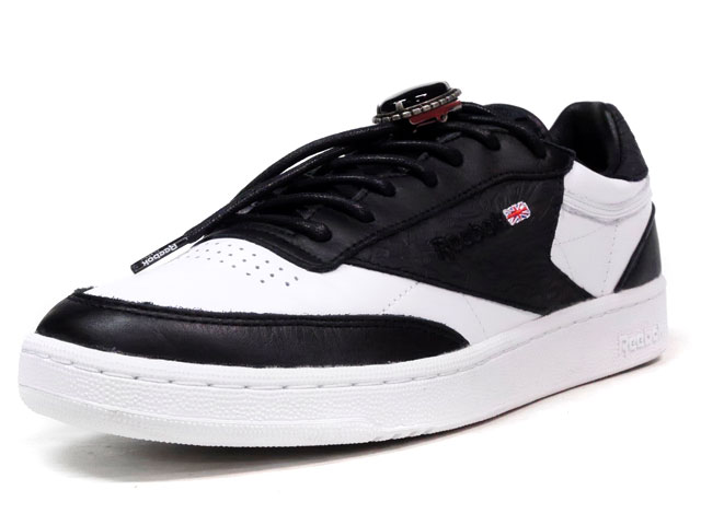 """Reebok CLUB C CNL """"EXTRA BUTTER"""" """"YEAR OF COURT"""" """"LIMITED EDITION for CERTIFIED NETWORK""""  BLK/WHT (AR1838)"""