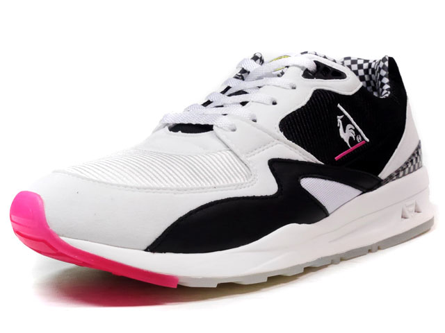 "le coq sportif LCS R 800 ""CHECKERS"" ""T&C Surf Designs""  WHT/BLK/PINK/CHECK (1611762)"