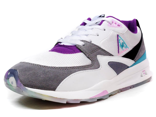 "le coq sportif LCS R 800 ""OPTICAL WHITE"" ""T&C Surf Designs""  WHT/GRY/PPL/BLK/E.GRN (1611760)"