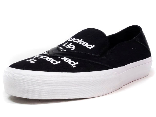"LOSERS UNEAKER SLIPON ""FUGAZI"" ""CUSTOM MADE""  BLK/WHT (16US02)"
