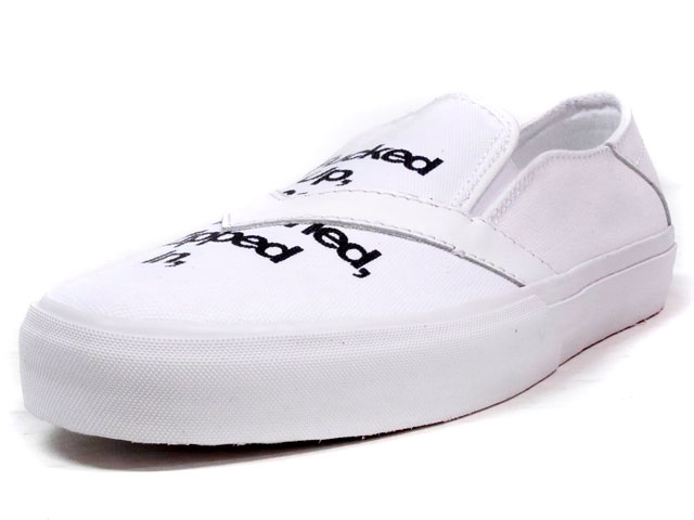 "LOSERS UNEAKER SLIPON ""FUGAZI"" ""CUSTOM MADE""  WHT/BLK (16US01)"