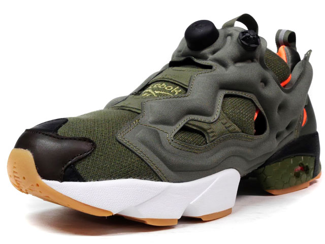 "Reebok INSTA PUMP FURY OG ""FLIGHT JACKET"" ""Winiche & Co. x mita sneakers""  OLV/ORG/WHT (AR3508)"