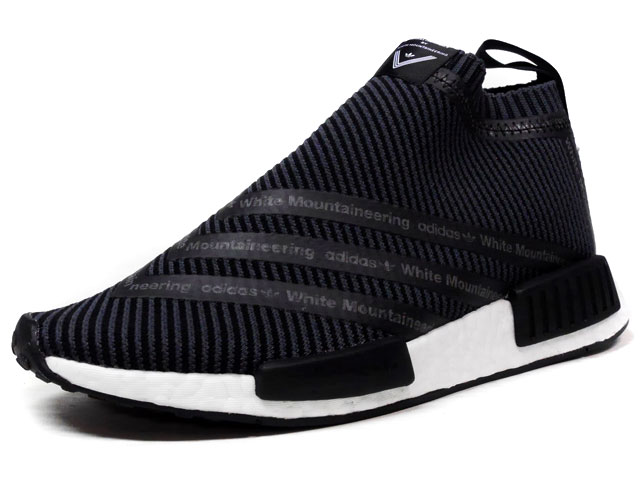 "adidas WM NMD CITY SOCK ""White Mountaineering""  BLK/WHT (S80529)"