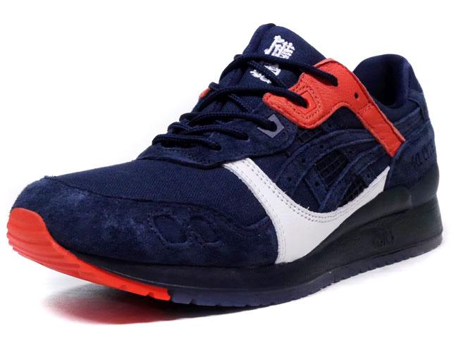 "ASICS Tiger GEL-LYTE III ""HIKESHI HANTEN"" ""sneakerwolf x KICKS LAB.""  D.NVY/RED/WHT (TQQ6M0-5858)"