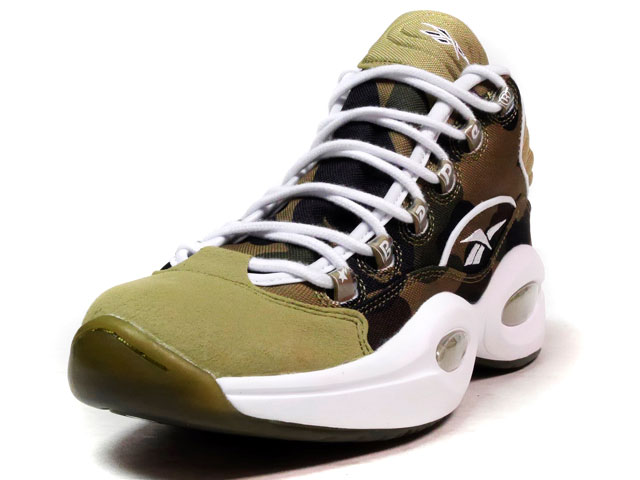 "Reebok QUESTION MID ""1ST CAMO"" ""A BATHING APE® x mita sneakers""  CAMO/OLV/WHT (BD4232)"