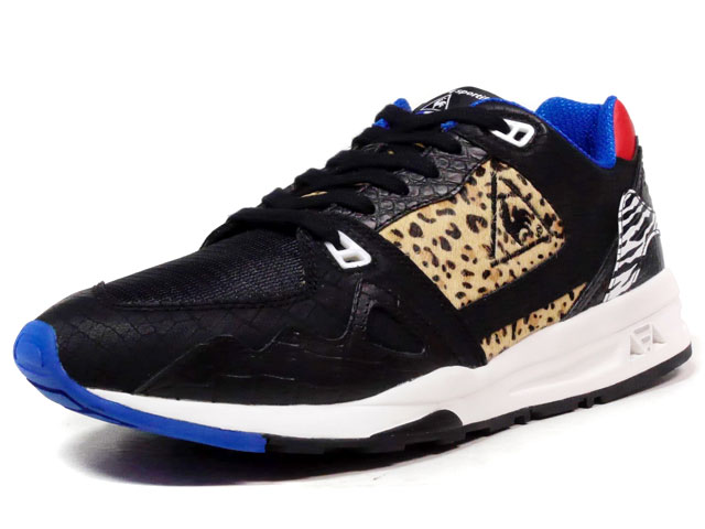 "le coq sportif LCS R 1000 MM ""Mighty Crown x mita sneakers""  BLK/LEOPARD/ZEBRA/RED/BLU (QMT-6304BL)"