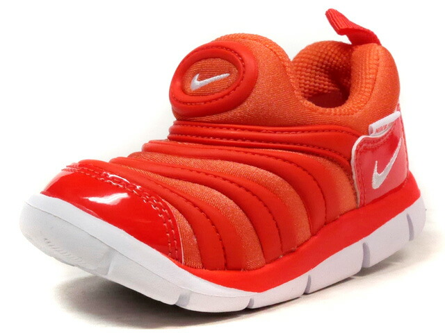 NIKE DYNAMO FREE (PS)  ORG/RED/WHT (343738-803)