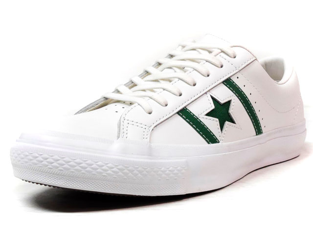 "CONVERSE STAR & BARS LEATHER ""LIMITED EDITION""  WHT/GRN (32340350)"