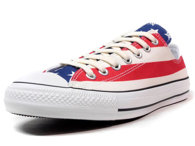 "CONVERSE ALL STAR 100 STARS&BARS OX ""ALL STAR 100th ANNIVERSARY"" ""LIMITED EDITION""  NAT/RED/NVY/WHT (32861850)"